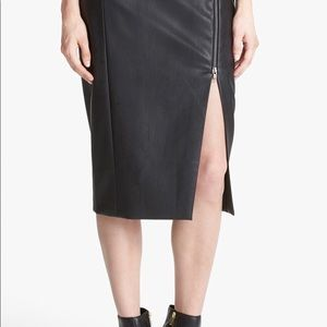 Tildon Skirts - New!! Pencil faux leather skirt.